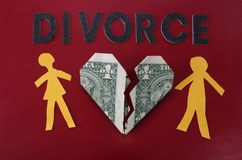 Lettere di divorzio Fotografia Stock Libera da Diritti