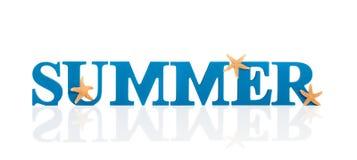 Lettere di estate Fotografia Stock
