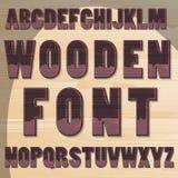 Lettere di legno Fotografie Stock