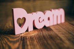Lettere di legno di sogno immagine stock libera da diritti