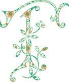 Lettere di modello del fiore messe Immagini Stock Libere da Diritti