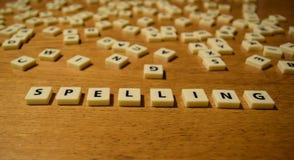 Lettere di ortografia Fotografia Stock
