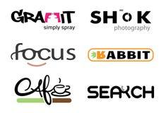 Lettere di progettazione di tipografia Fotografia Stock