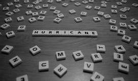 Lettere di uragano Fotografia Stock