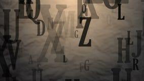 Lettere di volo dell'alfabeto inglese illustrazione vettoriale