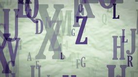 Lettere di volo dell'alfabeto inglese illustrazione di stock