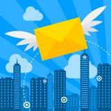 Lettere di volo di concetto royalty illustrazione gratis