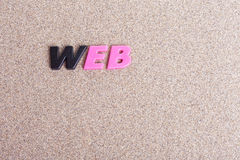 Lettere di WEB sulla sabbia immagine stock libera da diritti