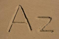 A, lettere di Z Immagine Stock Libera da Diritti