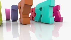 Lettere differenti miste variopinte con la parola ABC illustrazione di stock
