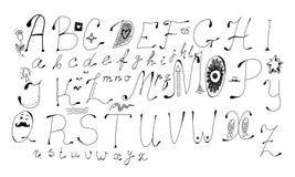 Lettere disegnate a mano Immagini Stock Libere da Diritti