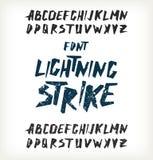 Lettere disegnate a mano Immagine Stock