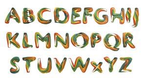 Lettere dissipate sui cubi di legno Fotografie Stock