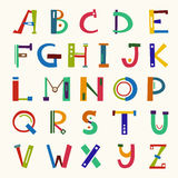 Lettere divertenti variopinte di ABC Illustrazione disegnata a mano di vettore royalty illustrazione gratis
