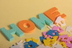 Lettere domestiche di divertimento Immagine Stock Libera da Diritti