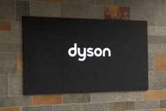 Lettere Dyson su una costruzione Fotografia Stock Libera da Diritti