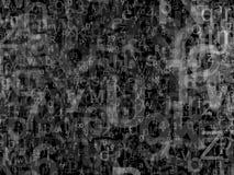 Lettere e bw di numeri Immagine Stock