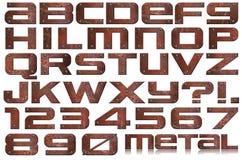 Lettere e numeri del metallo di Grunge Fotografia Stock Libera da Diritti