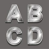 Lettere e simboli del metallo Fotografia Stock Libera da Diritti