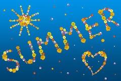 Lettere e simboli di estate dai fiori Immagini Stock