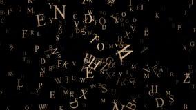 Lettere e simboli di volo sul blu video d archivio