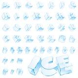 Lettere editable del ghiaccio di vettore Fotografie Stock