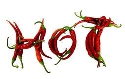 Lettere fredde rosse dei peperoni Fotografia Stock