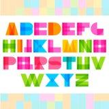 Lettere geometriche di alfabeto di forme Fotografia Stock Libera da Diritti