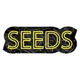 Lettere gialle sul modello del seme del nero del girasole royalty illustrazione gratis