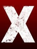 Lettere grasse di Grunge - X Immagine Stock
