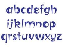 Lettere interessanti dell'alfabeto con i punti Immagini Stock