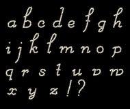 Lettere latine corsive Fotografie Stock Libere da Diritti