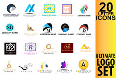 Lettere Logo Set Collection Fotografia Stock