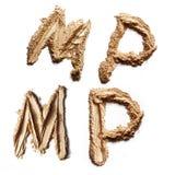 Lettere minerali della polvere Fotografie Stock Libere da Diritti