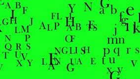 Lettere o concetto volanti di alfabeti della conclusione delle scritture in scripture o libri illustrazione di stock
