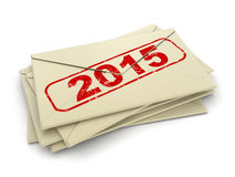 Lettere 2015 (percorso di ritaglio incluso) Fotografia Stock Libera da Diritti