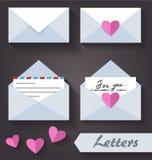 Lettere piane di immagine Fotografia Stock