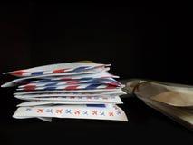 Lettere in pila Fotografie Stock