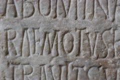 Lettere romane antiche Immagine Stock