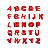 Lettere rosse Illustrazione di Stock