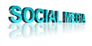 Lettere sociali di media 3d Fotografie Stock Libere da Diritti