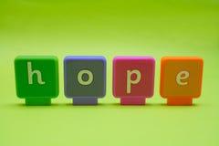 Lettere: Speranza Fotografie Stock Libere da Diritti