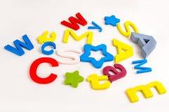 Lettere sul pavimento Immagine Stock