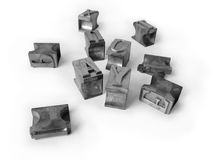 Lettere tipografiche del metallo Immagini Stock
