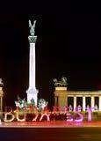 Lettere variopinte di Budapest Fotografia Stock