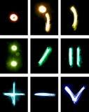 Lettere verniciate con indicatore luminoso Fotografie Stock