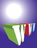 Lettere WWW sulla priorità bassa luminosa del sole Immagine Stock