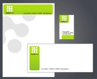 Letterhead, габарит и визитная карточка Стоковое Изображение RF