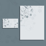 letterhead плана визитной карточки foral Стоковая Фотография RF