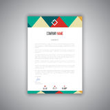 Letterhead design. Business letterhead with a modern design Stock Image